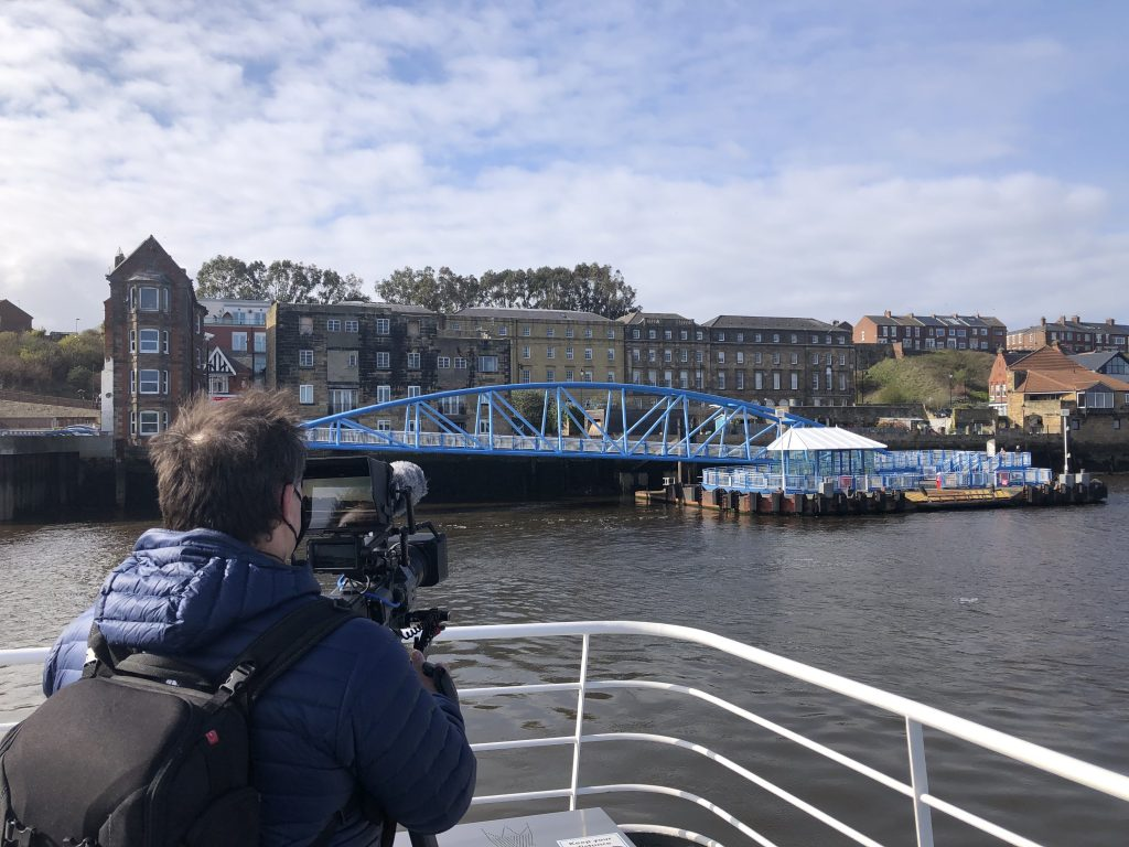 A trip on the River Tyne ferry to get a better angle to film the kittiwakes at the ferry landing.