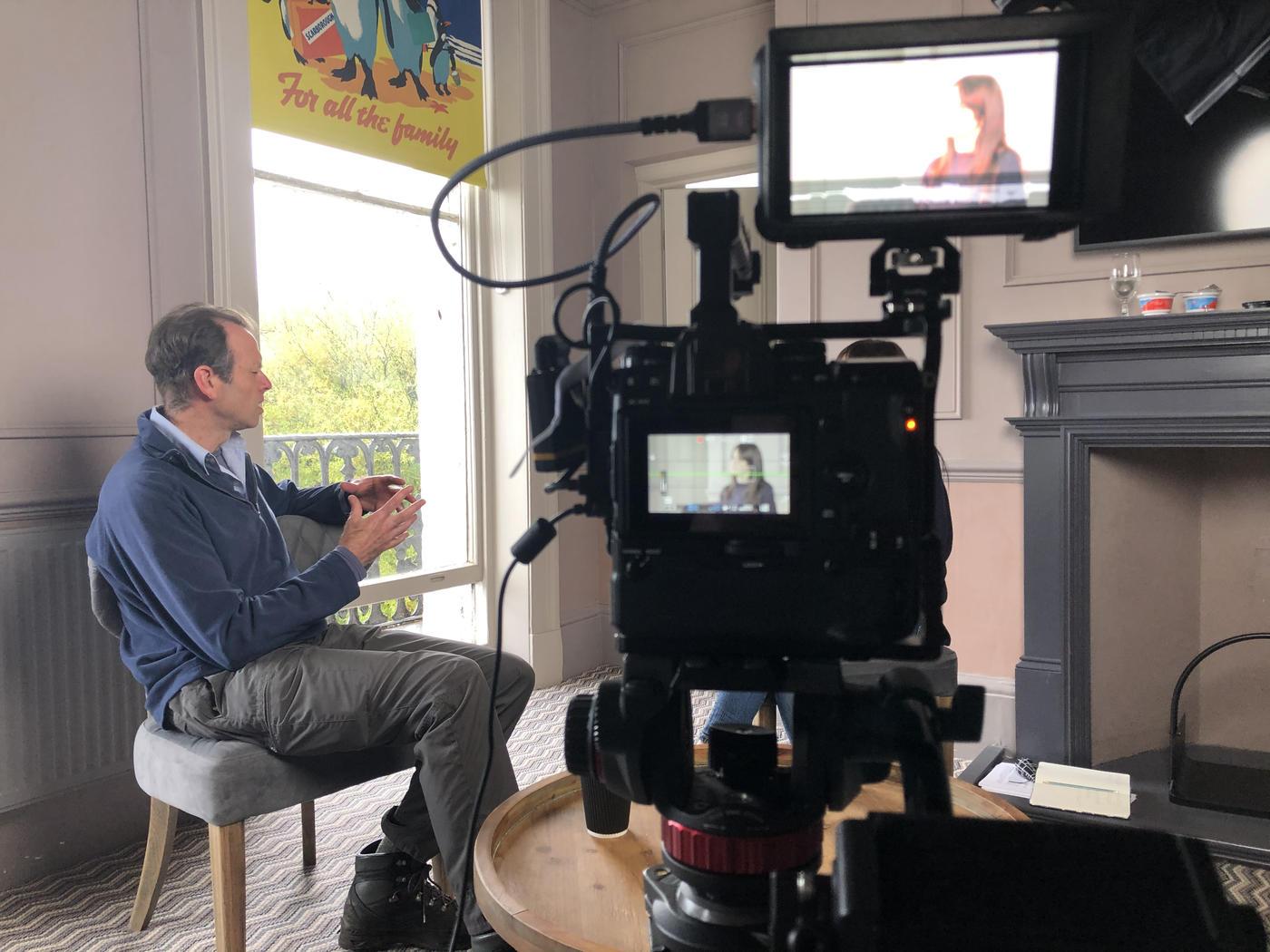 Interviewing Tim Burkinshaw, Scarborough Borough Council ecologist.